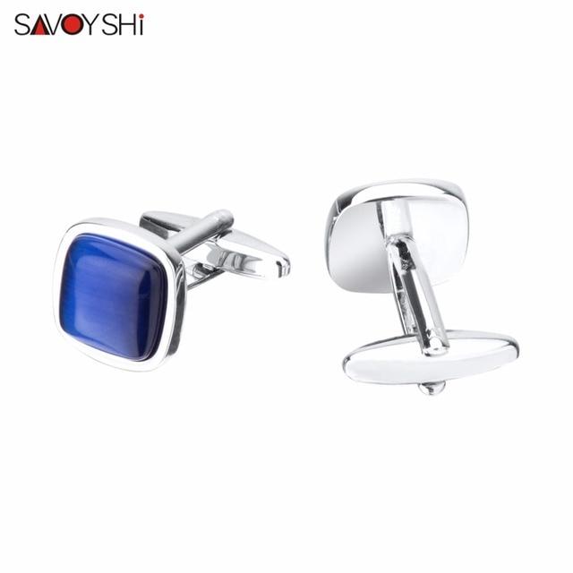 Купить бренд savoyshi представляет голубой опал камень запонки для