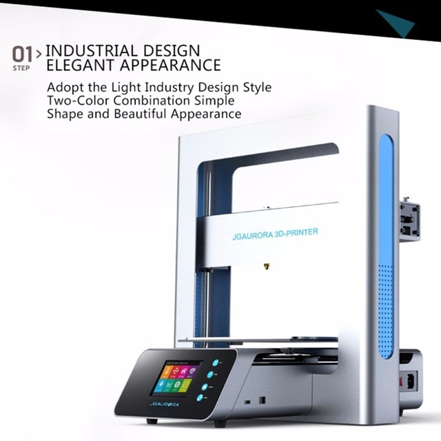 Hot Sale Portable 3D Printer Full Metal Frame High Precision Large Printing Size USB Printing Machine LCD Touch Screen Display 2