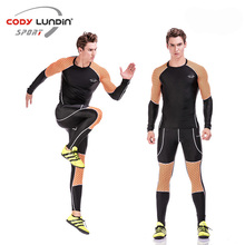 Cody lundin Fitness tights suit men's sports long-sleeved sportswear T-shirt suit rasgard quick drying running sets Rashgard