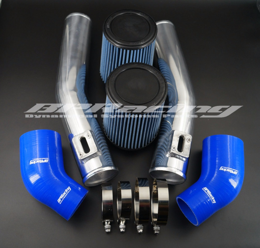 BEST POWER 76mm AIR INTAKE PIPE MAF KIT FOR NISSAN GTR R35 blue