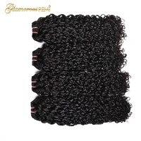 Малайзия Funmi волосы Piexy curl двойной нарисованный кудрявый вьющиеся волосы remy один пучок пикселей curl натуральный черный цвет может быть краси