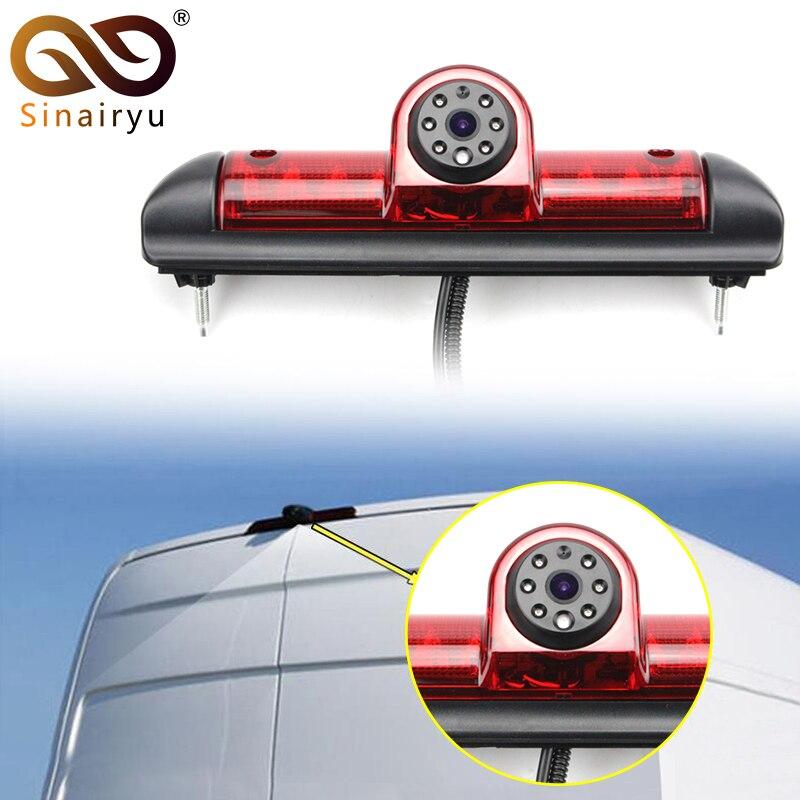 Sinairyu Lumière De Frein De Voiture Arrière Vue Caméra Pour Fiat Ducato X250 Citroen Jumper III Peugeot Boxer III LED IR Parking caméra