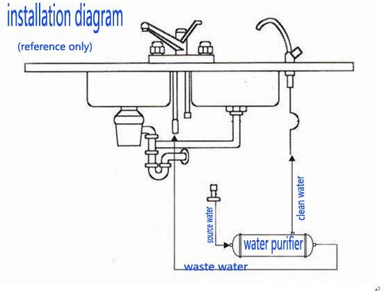 300л/ч фильтр для воды/UF очистки воды/ультра фильтр очиститель с 0,01 микрон UF memebrane и KDF материал(диаметр 89 мм