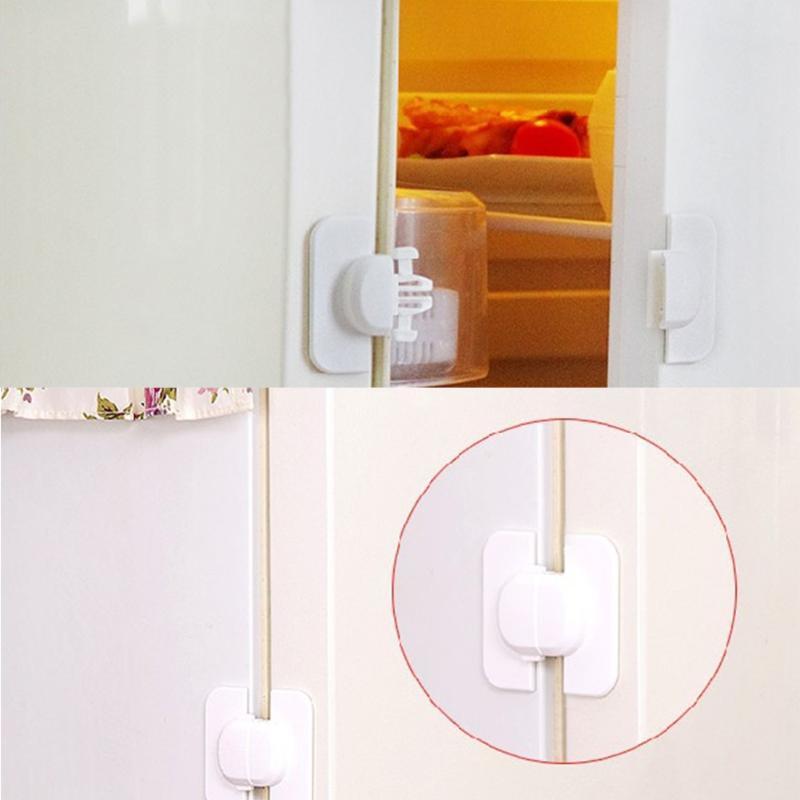 Child Baby Drawer Safety Lock Kids Door Fridge Safety Locks Toilet Closet Plastic Lock Rotection From Children Newbrons