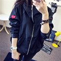 Plus Size New Hot Fashion Long Sleeve Women's Coat Jacket Autumn Winter Hooded Solid Colour Casual Female D087