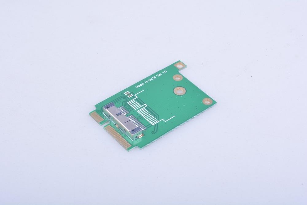 BCM94331CD BCM943224PCIEBT2 BCM94360CD BCM94331CSAX Ethernet WIFI Card to Mini PCI-E Laptop Adapter