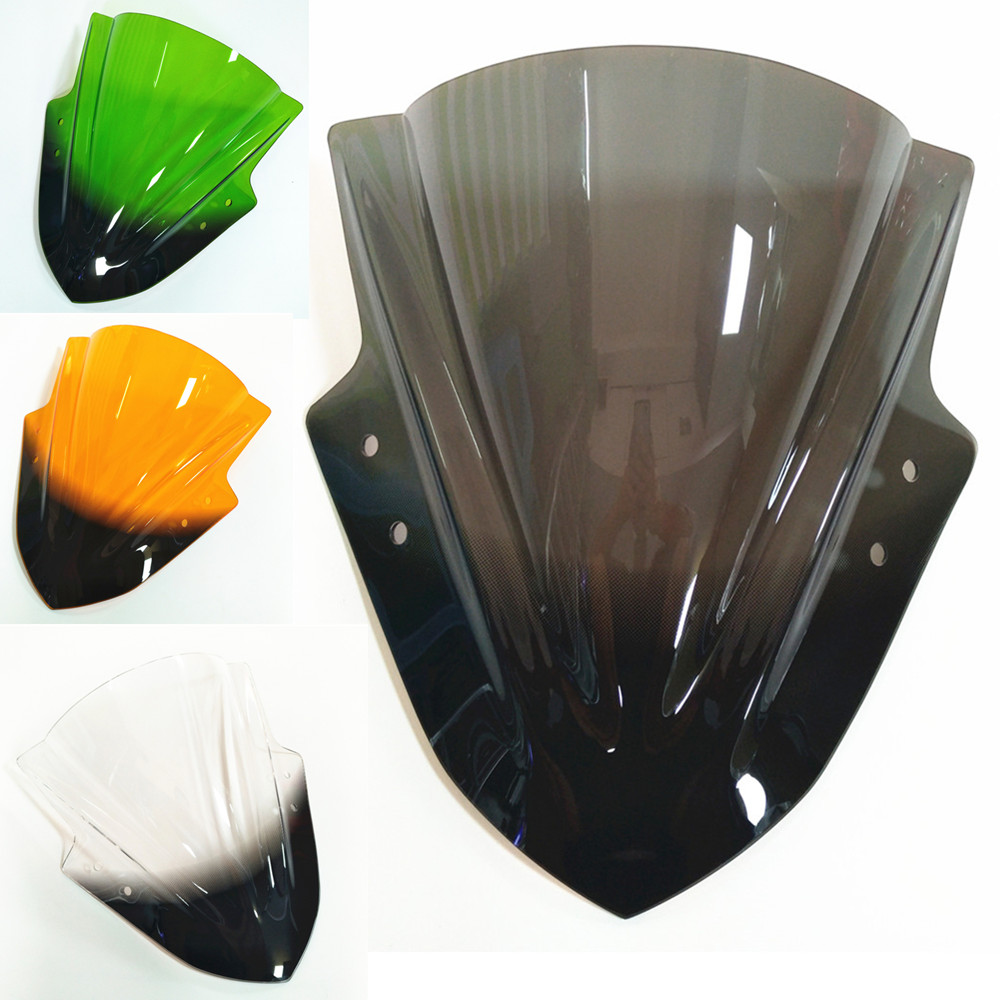 Motorcycle Accessories For Kawasaki Ninja 300 Windshield Wind Deflectors Smoke Clear Smoke Windscreens Acrylic Accessories
