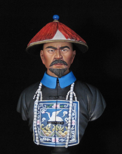 ФОТО Resin Kits  1/ 9 200mm Qing Dynasty Official Figure bust  figure  Resin Not color Model figure DIY TOYS new WWII WW2