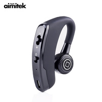 Aimitek V9 Business Bluetooth Headset Wireless Earphone Earbud Handsfree With Mic Voice Control For Drive Office