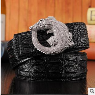 faed8d396 2017 Cinto Feminino Genuine Leather Brand Belts For Men Mens Belts Luxury  designer belts men high quality Crocodile Diamond belt-in Men s Belts from  Apparel ...