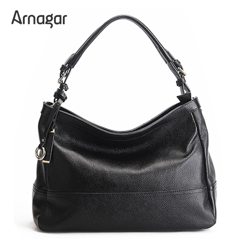 Arnagar Brand Genuine Leather Women Shoulder Bags 2016 Winter New Fashion Solid Zipper Sequined Women Handbags  sac a dos