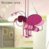 Creative Cartoon Honeybee Chandelier Children S Room Princess Room Boy Girl Bedroom Personality Pink Insect Ceiling