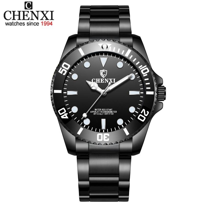 CHENXI Marque Hommes Montres Hommes D'affaires Quartz Horloge pour En Acier Inoxydable Bande Montres Mâle Étudiants Reloj Hombre Relojes
