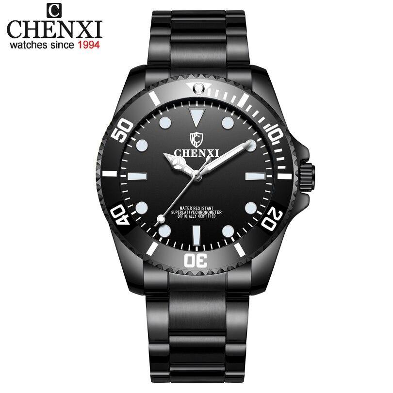 купить CHENXI Brand Men Watches Mens Business Quartz Clock for Stainless Steel Band Wristwatches Male Students Reloj Hombre Relojes по цене 642.29 рублей