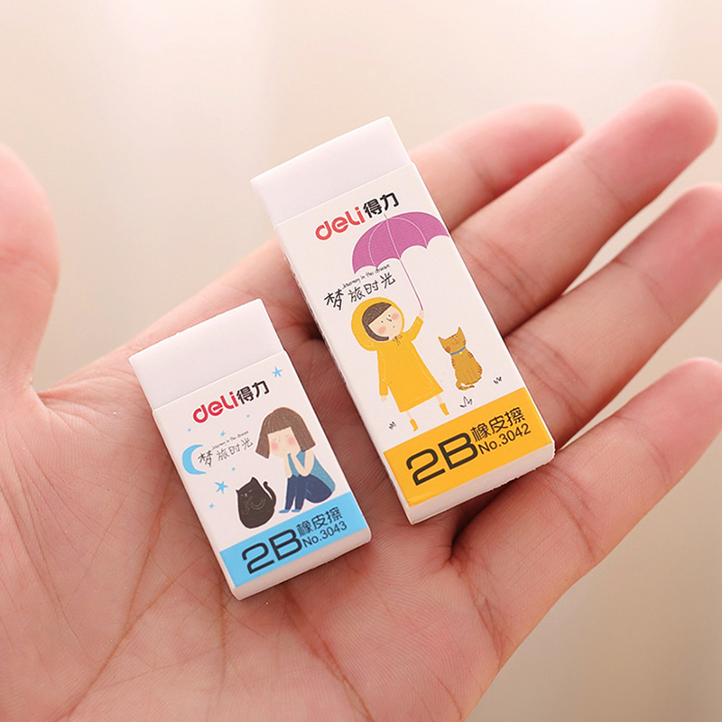 4Pcs Rubber Eraser White 2B Pencil Eraser Students Art Sketch Drawing Safe Non-toxic School Stationery Office Corrector 3042