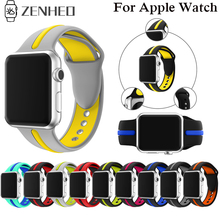 Silicone Strap For Apple Watch band 38mm 42mm iWatch 4 band 44mm 40mm Sport belt Bracelet correa Apple watch 4 3 2 1 Accessories strap for apple watch band apple watch 4 3 2 iwatch band 42mm 44mm 38mm 40mm correa bracelet silicone watchband belt accessories