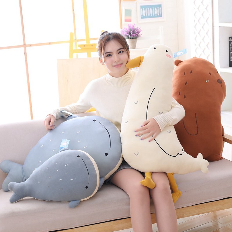 50 80cm Plush Animal Pillow Toys Soft Baby Pillow Stuffed