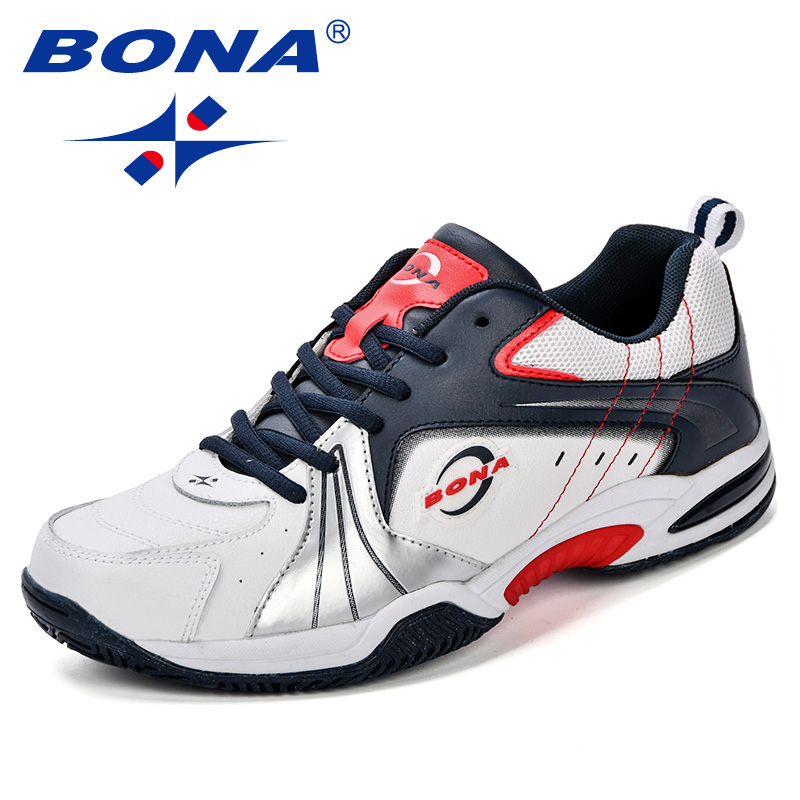 BONA New Designer Popular Style Men Running Shoes Leather Outdoor Jogging Shoes Athletic Shoes Lace Up