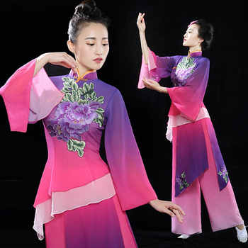 Chinese folk dance costume for woman Traditional chinese dance costumes Long sleeve woman festival performance costume CC151 - DISCOUNT ITEM  40% OFF All Category