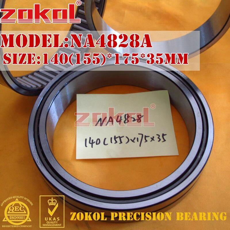 ZOKOL bearing NA4828 A NA4828A Entity ferrule needle roller bearing 140(155)*175*35mm rna4913 heavy duty needle roller bearing entity needle bearing without inner ring 4644913 size 72 90 25