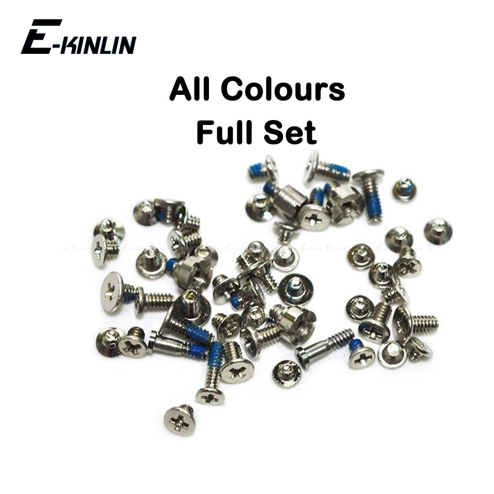 Complete Full Screws Screw Set For IPhone 4 4S 5 5S SE 5C With Plug Bottom Dock Replacement Parts