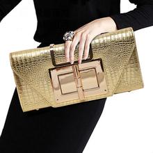 Genuine Leather Handbags European And American Style Crocodile Pattern Lock Ladies Single Shoulder Diagonal Large Capacity Bag