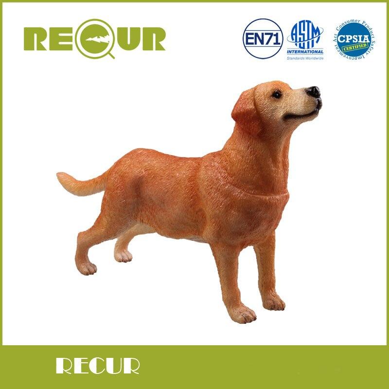 2 Pcs/lot Recur Toys Golden Retriever+Labrador Retriever High Simulation Pet Model PVC Toy Hand Painted Animal Figures Soft Toys