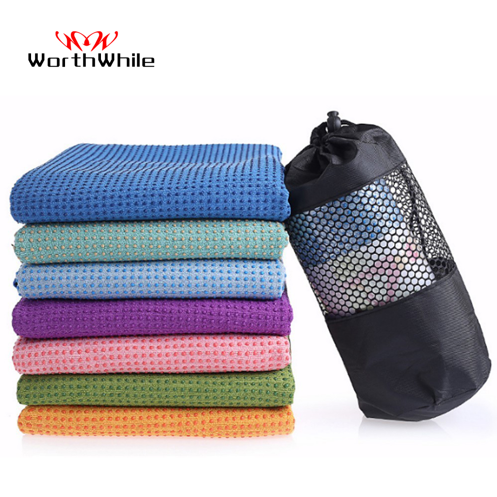 WorthWhile Fitness Gym Yoga Mat Towel Anti Skid Microfiber Cover Blanket Sports Non Slip For Soft Thicken PVC Exercise Equipment