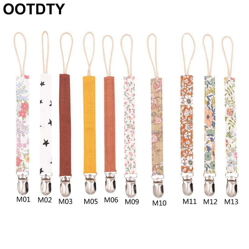 Baby Pacifier Clip Chain Cotton Linen Holder Pacifier Soother Clips Leash Belt Nipple Holder For Infant Feeding Dropshipping