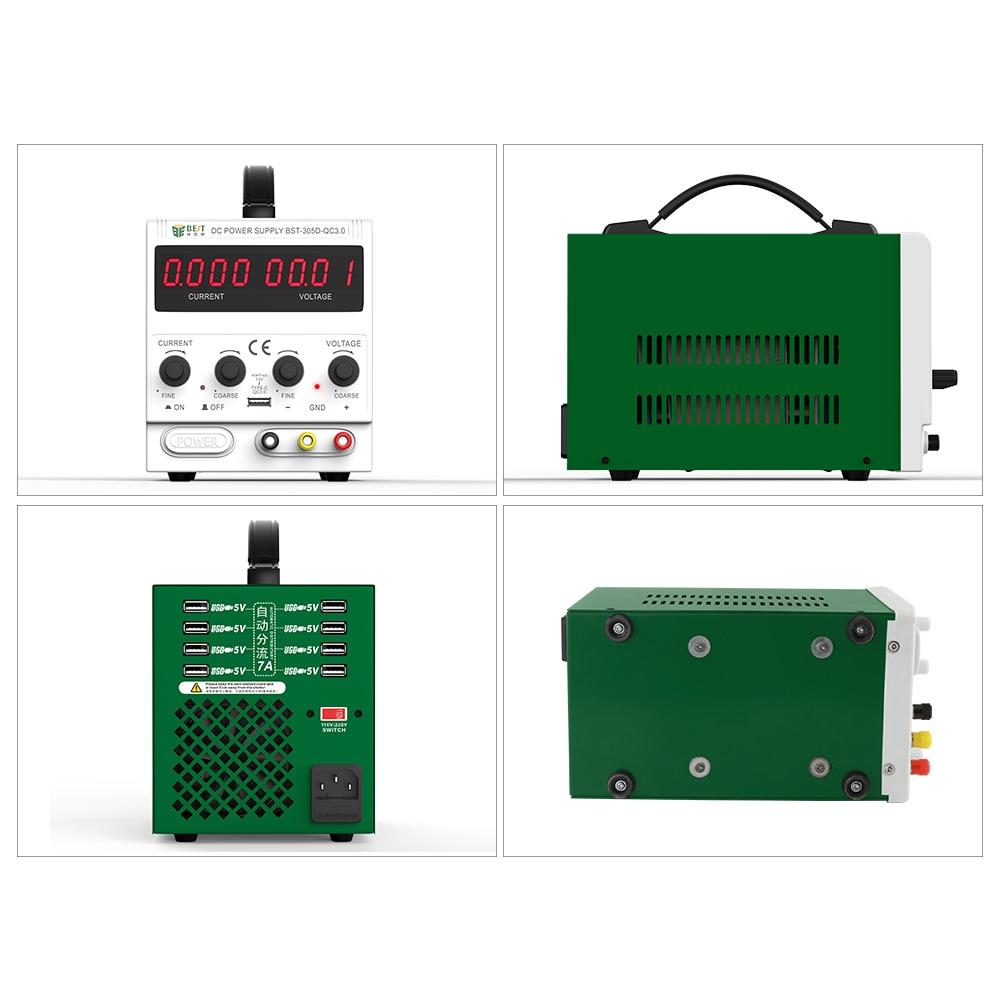 Meilleur 305D nouveau 30V 5A AC DC alimentation à découpage réglable alimentation LED avec Ports USB outils de réparation de téléphone portable - 5