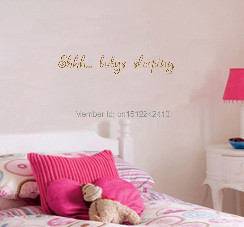 Shhh....Baby's Sleeping home decoration wallpaper living