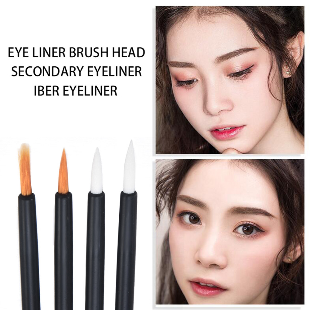 Women Accessories 50 PCS Disposable Eyeliner Fber Eyeliner Brush Head Wholesale Gloss Wands Applicator Perfect Best Makeup Tool