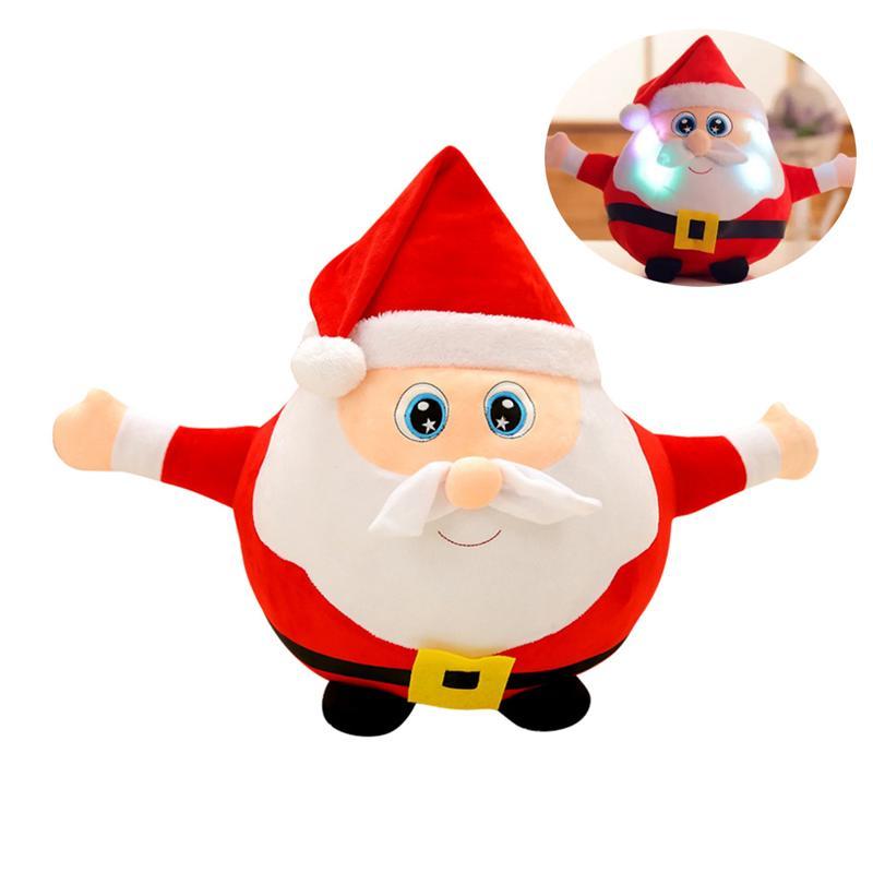 Noël peluches musicales LED jouets en peluche poupée lumineuse cadeau de noël pour enfants 55 cm (père noël)
