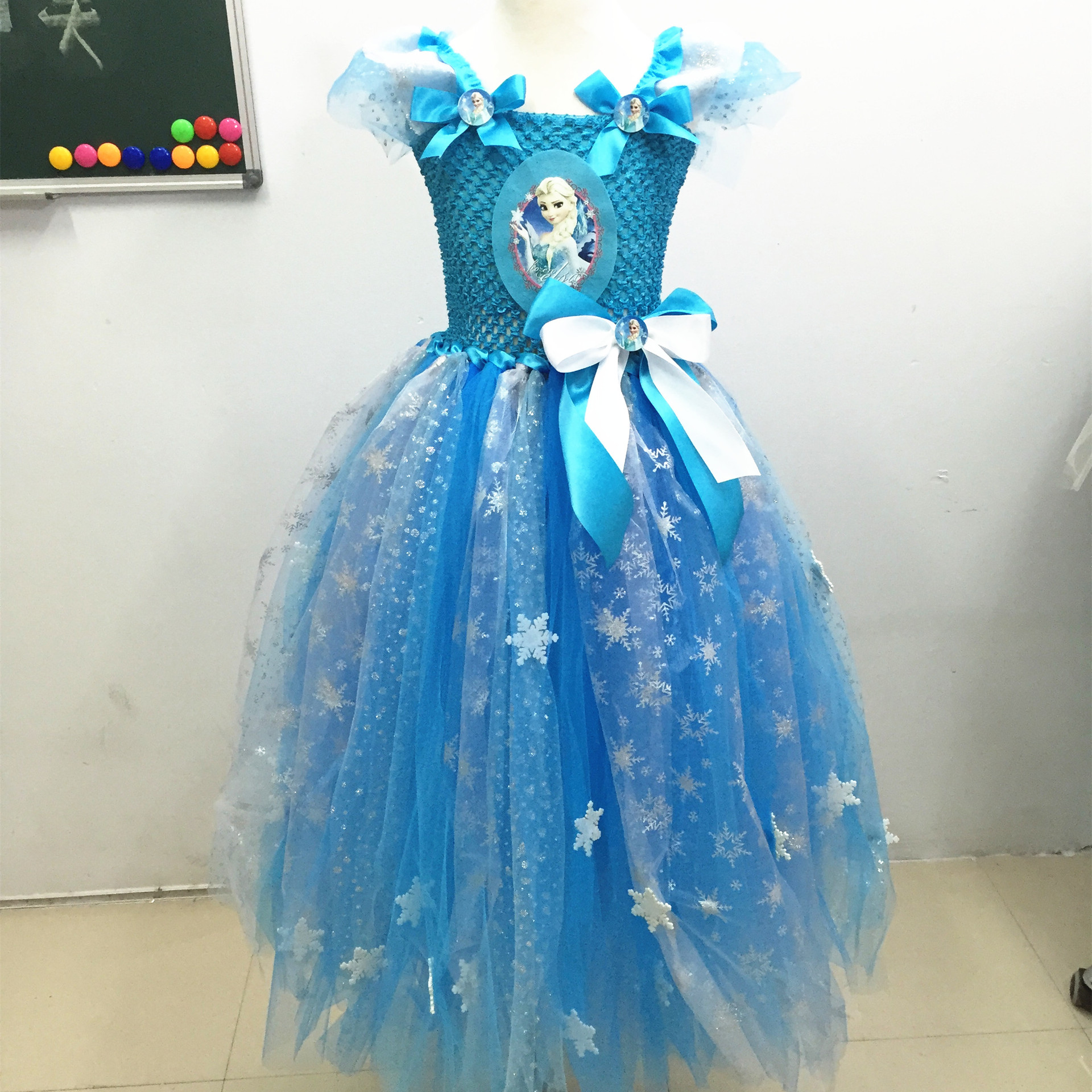 Children's Princess Girl Dress Kids Anna Elsa Costumes Dresses for Girls The Snow Queen Christmas Toddler Girls Clothing the snow queen