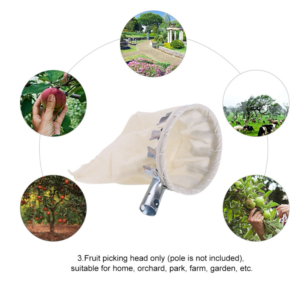 Fruit Picker Head Basket Fruit Picking Tools Fruits Catcher for Harvest Picking Apple
