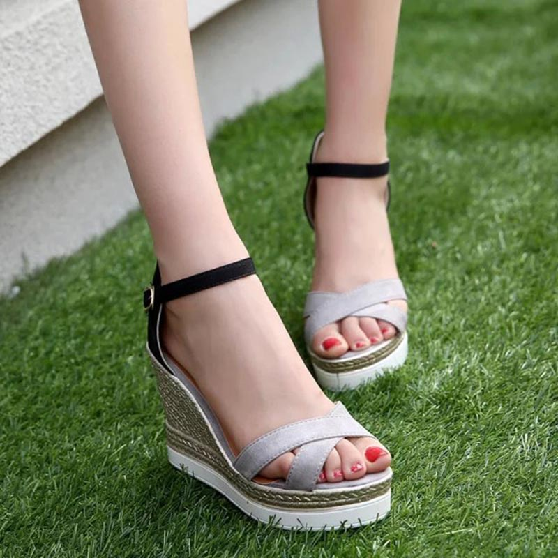 Sexy Office Lady High Heel Ankle Strap Sandals