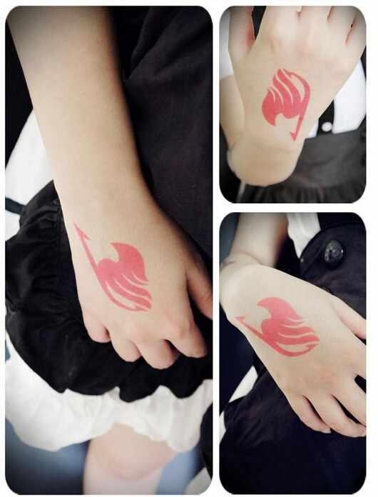 3 logo Fairy Tail naklejki wodoodporne Natsu Elza szary Lucy Zera Yuri Zero konstelacji Tempora Cosplay tatuaże