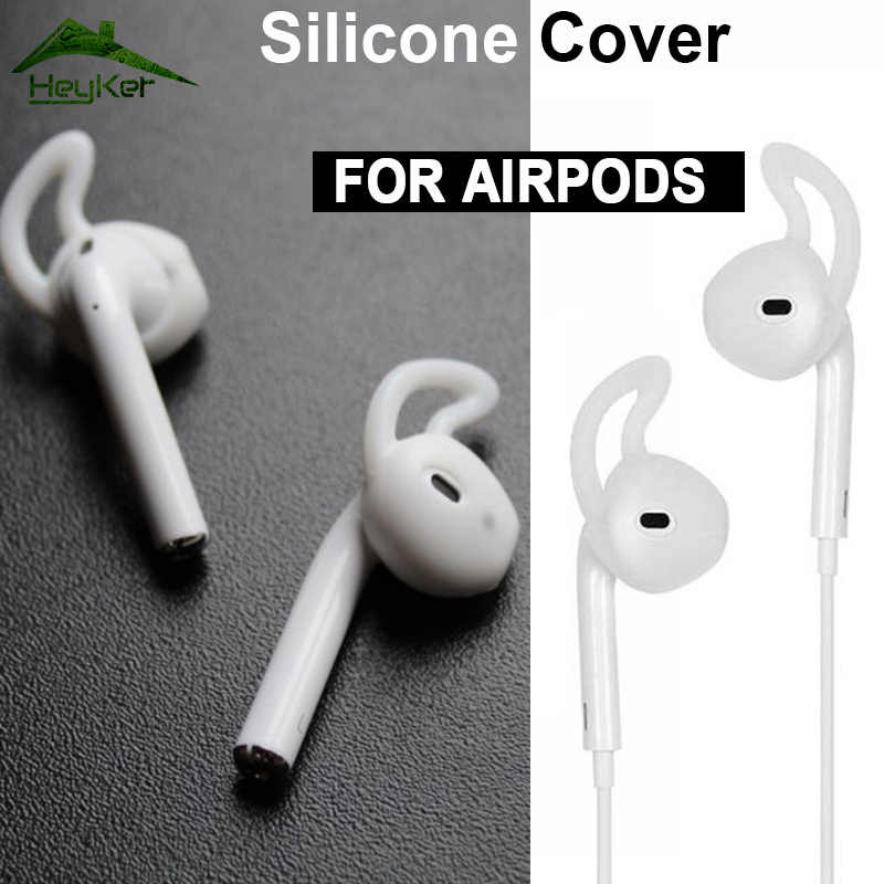 New for Apple AirPods Replacement Soft Silicone Antislip Ear Cover Hook Earphone Earbuds Tips Headset Case protector For earpods