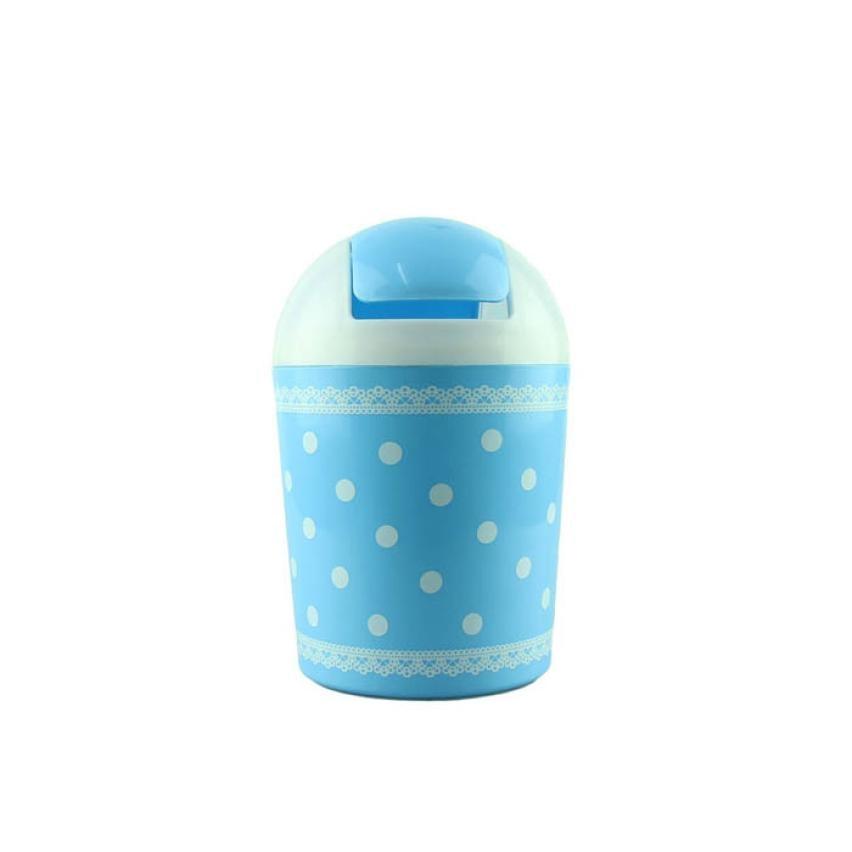 Fashion Fresh Lace Polka Dot Desktop Storage Barrels Creative Mini Trash Can wit levert dropship 2jul12