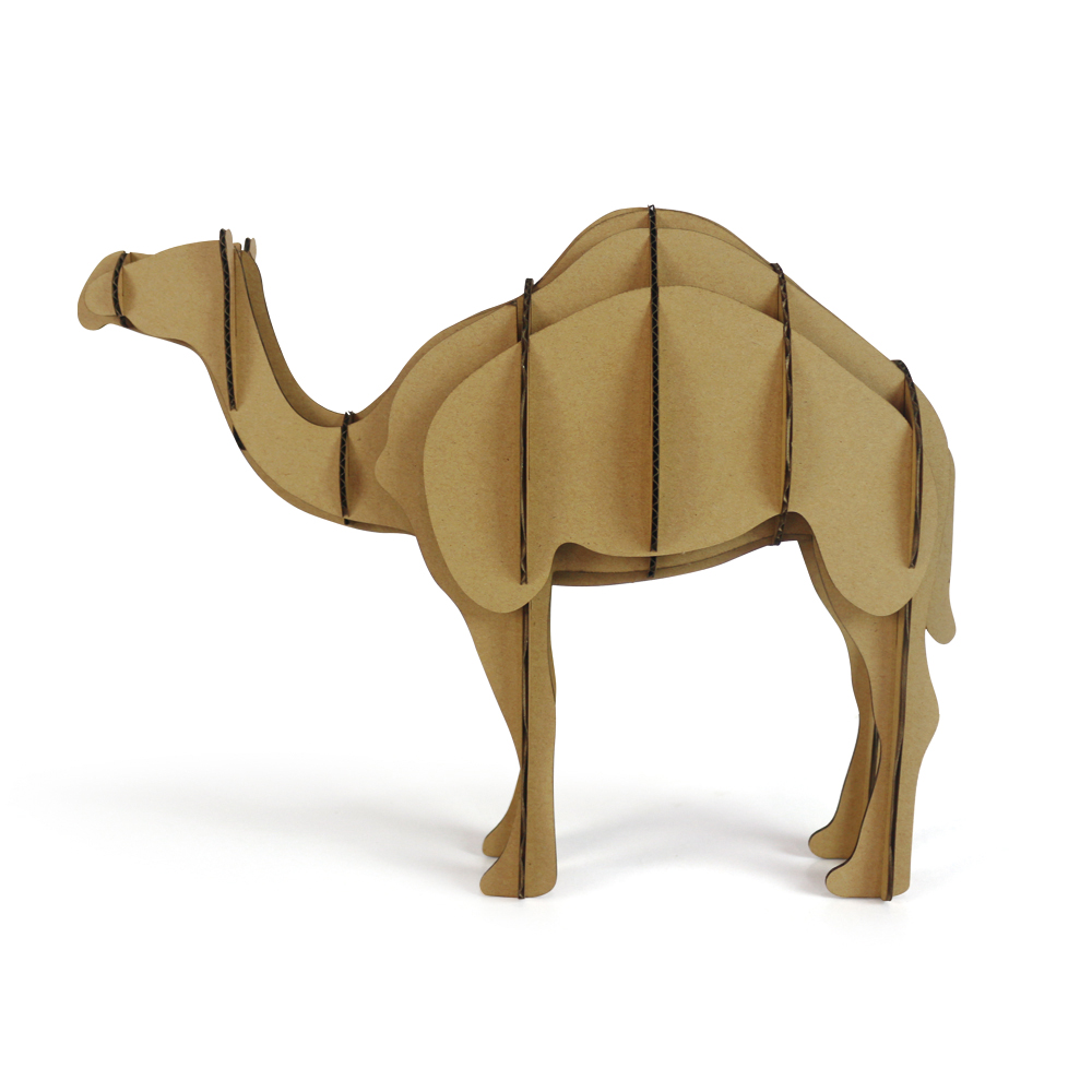 3d Puzzle Camel Toys for Children DIY Cardboard African Desert Animal Model Paper Craft Kids Papercraft Dromedary New Year Gifts