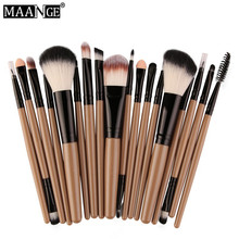 MAANGE Pro 18Pcs Makeup Brushes Set Comestic Powder Foundation Blush Eyeshadow Eyeliner Lip Beauty Make up Brush Tools D1