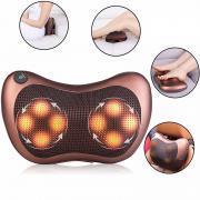 8 Massage Balls Kneading Neck Shoulder Back Massager Pillow Infrared Shiatsu Electric Car Chair Relax Device