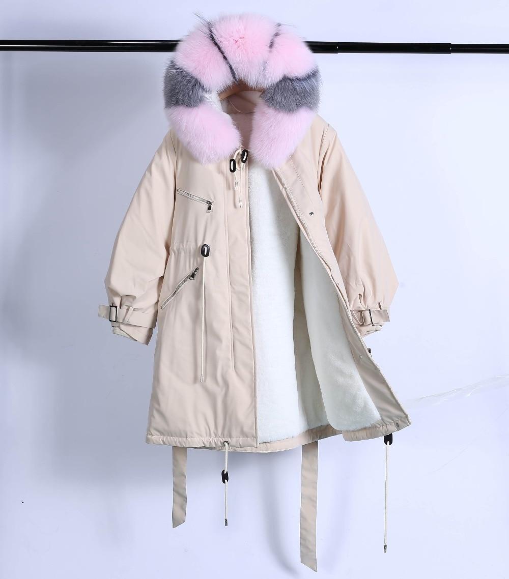 Large Natural Raccoon Fur Winter Jacket Women Hooded 19 Long Parkas For Female Thick Slim Down Winter Coat Women Waterproof 40