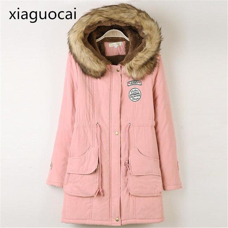 Winter Parkas pink 2018 Women Parkas Long Waterproof Hooded Mantle Female Coats Dress Casual Thick Warm