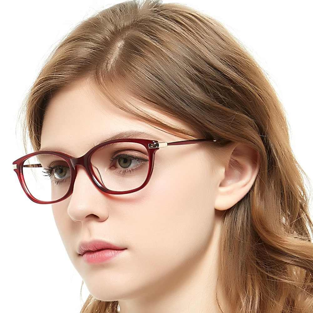 4c6d881548c7 ... OCCI CHIARI Eyewear Myopia Gafas Women Eyeglasses Frame Acetate Spring  Hinge Spectacles Prescription Eyeglasses Red W ...
