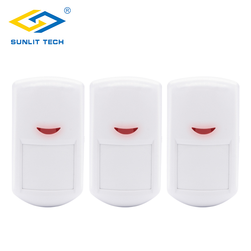 1/3/5pcs Lot Wireless PIR Sensor Motion Detector 433MHz For Home Security WIFI GSM PSTN Alarm System With Long Detect Distance