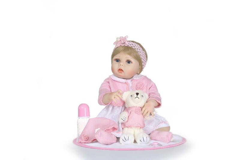 full silicone reborn baby dolls 22inch girl bathe doll toys bonecas 56cm Child new years Christmas Birthday Gift Play House Toyfull silicone reborn baby dolls 22inch girl bathe doll toys bonecas 56cm Child new years Christmas Birthday Gift Play House Toy