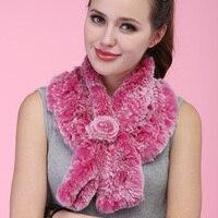 Autumn Winter Lady Diy Pendants Rex Rabbit Fur Scarf Fashion Charm Beauty Women Neckerchief Warm