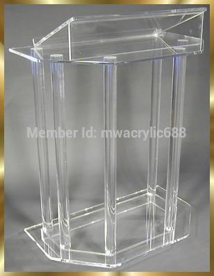 Free Shipping Beautiful Acrylic Podium Pulpit Lectern