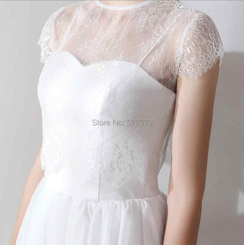 ... YNQNFS IWD10 With Detachable Jacket Wrap Tea Length Bridal Dress Gown  Wedding Party Dress Bridesmaid Dress 037b88f69bfb